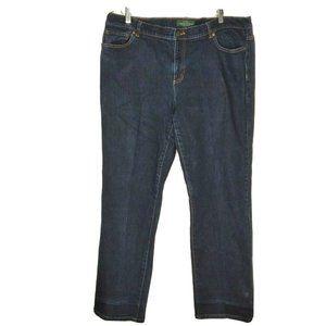 Lauren Ralph Lauren Dark Blue Straight Leg Jeans